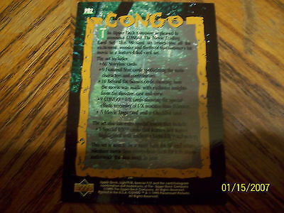CONGO THE MOVIE PROMO TRADING CARD #2 image 2
