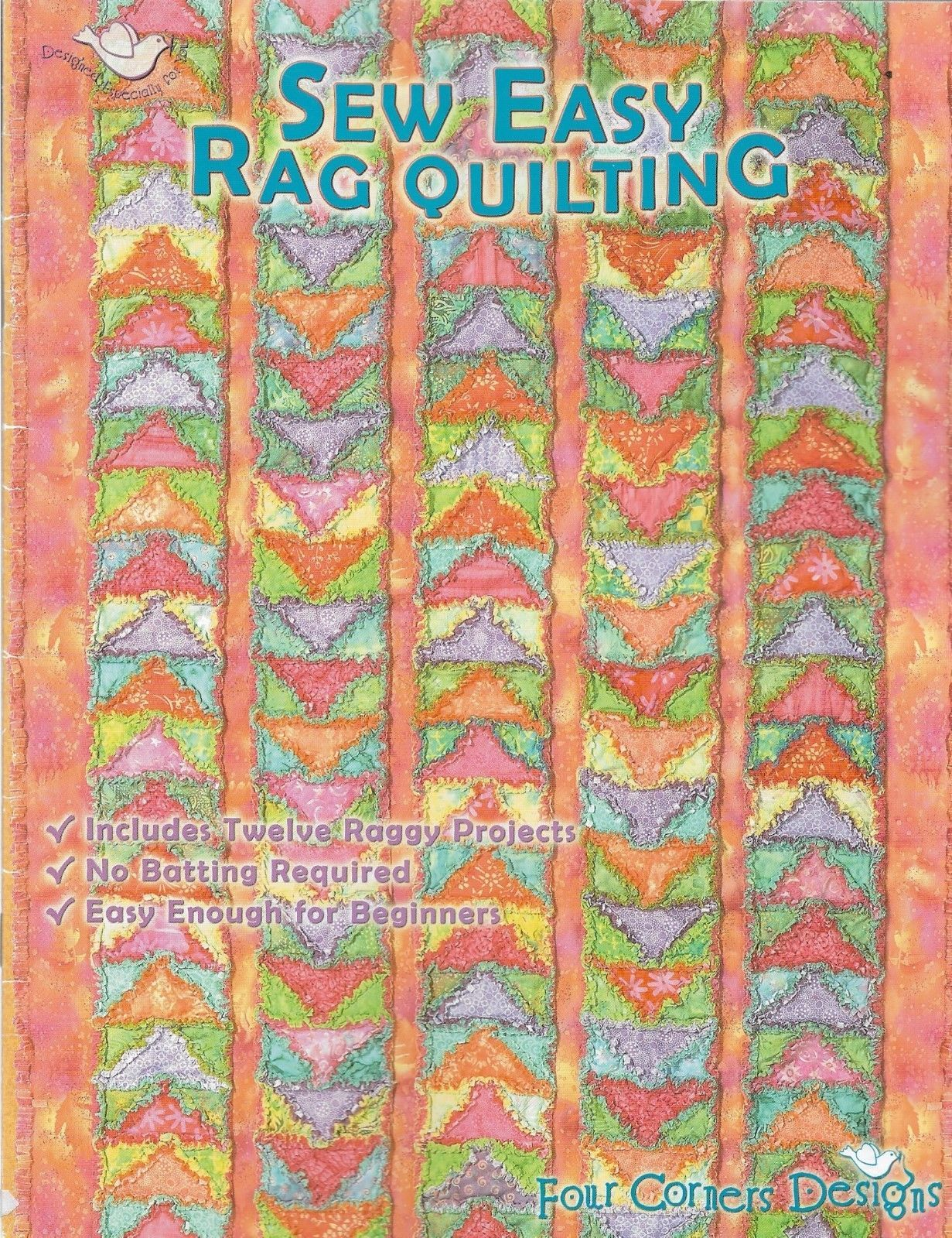 Quilt Pattern Booklet Sew Easy Rag Quilting 12 Projects No Batting Required