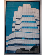 The Blue and White Building (IAC Building NYC) ~ Art Quilt - $600.00