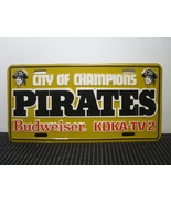 1979 Pittsburgh Pirates License Plate City of Champions KDKA-TV Budweiser - $20.89