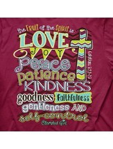 New CHERISHED GIRL T SHIRT LOVE JOY PEACE FRUIT OF THE SPIRIT   Shirt - $18.99+