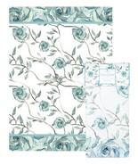Blue Roses Tea Towel Ashdene Bloom Beautiful 100% Cotton White Shell Rum... - $14.84