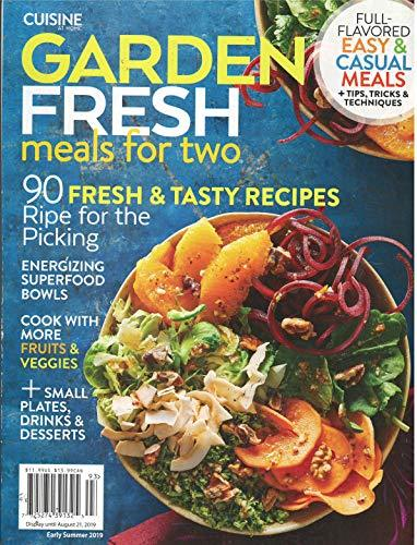 Primary image for Cuisine At Home Garden Fresh Meals For Two Magazine Early Summer 2019 [Single Is