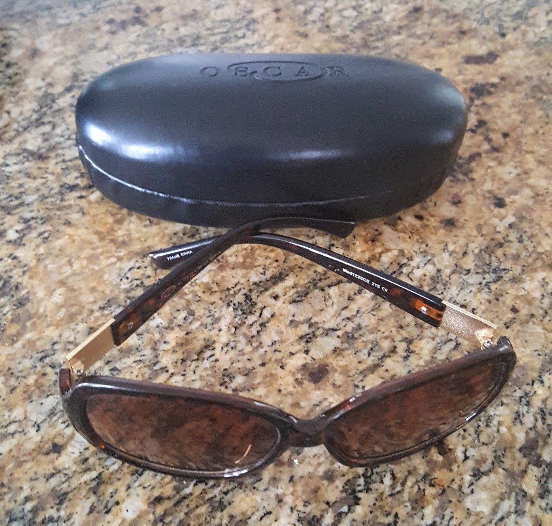Women/'s Sunglasses Tortoiseshell Frames Brown Oval Lenses Oversized Style 598