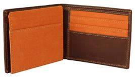 Timberland Men's Hunter Leather Waxed Canvas Credit Card ID Passcase Wallet image 5