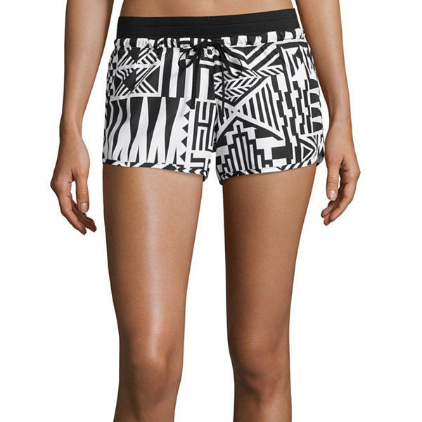 City Streets Woven Shorts Juniors Size XS, S,  L Msrp $32.00 Black-white Aztec - $12.99