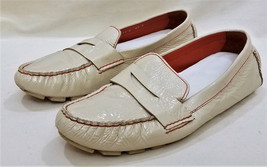 Cole Haan Comfort Flat Shoe Size-10 M Ivory Soft Leather - $9.95
