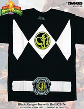 Mighty Morphin Power Rangers Noir Super Héros Déguisement Halloween T Shirt - $20.95+