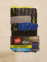 Boys Hanes XTemp Lightweight boxer briefs 3 PACK blue/gray Size XL - $10.68