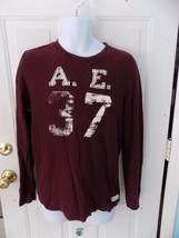 American Eagle Burgundy Henley Pullover Shirt Size M Men's EUC - $17.43