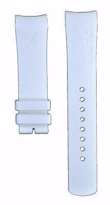 Nautica A16568G 22mm White Diver Rubber Watch Strap Band Anti Allergic NTC103