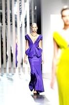 $8K Nwt Gorgeous Oscar De La Renta Purple Silk Gown Dress Runway Us 6 - $1,895.00