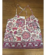 * NWT Womens HOLLISTER fancy floral print v Neck tank top small - $9.90