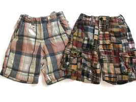 Gap Plaid Madras Shorts Lot Boys Size 6 2 Pairs Bermuda Board - $15.85