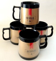 Set of 4 Vintage Thermo-Serv Michelob Beer Mugs - $24.70