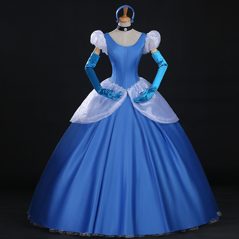 Cinderella Princess Costume Adult Cinderella Cosplay Dress For Hallowmas Party for sale  USA
