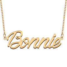 Bonnie Name Necklace for Best Friends Family Girl Friend Birthday Gifts - $13.99+