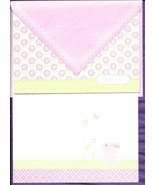 Hallmark Baby Girl Thank You Note Cards pink green set 50 blank 2 design... - $17.77