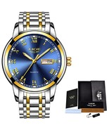 LIGE Watch Men Fashion Sports Quartz Full Steel Gold Business Mens Watch... - $38.71