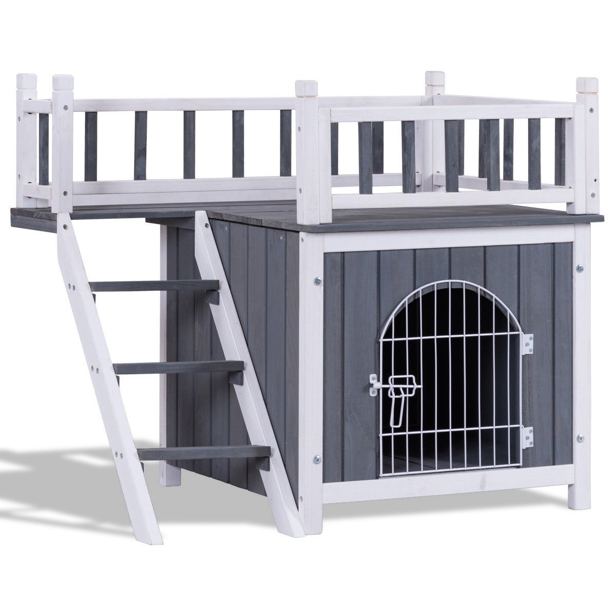 Primary image for Two Sizes Wooden Pet House Dog Cat Puppy Room-L