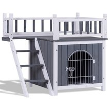 Two Sizes Wooden Pet House Dog Cat Puppy Room-L - $159.00