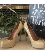 ALDO Nude Tan patent platform high heels 40 - $37.62