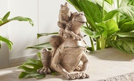 "11.4"" High - Stacked Three Frog Design Garden Statue Polyresin image 2"