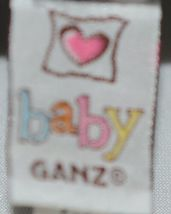 Baby Ganz Brand BG3192 Pink And Black Ooh La La Plush Filigree Elephant image 5