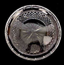 "Waterford Ireland Crystal Cut Glass Round Serving Tray 10-3/4"" Signed - $163.63"