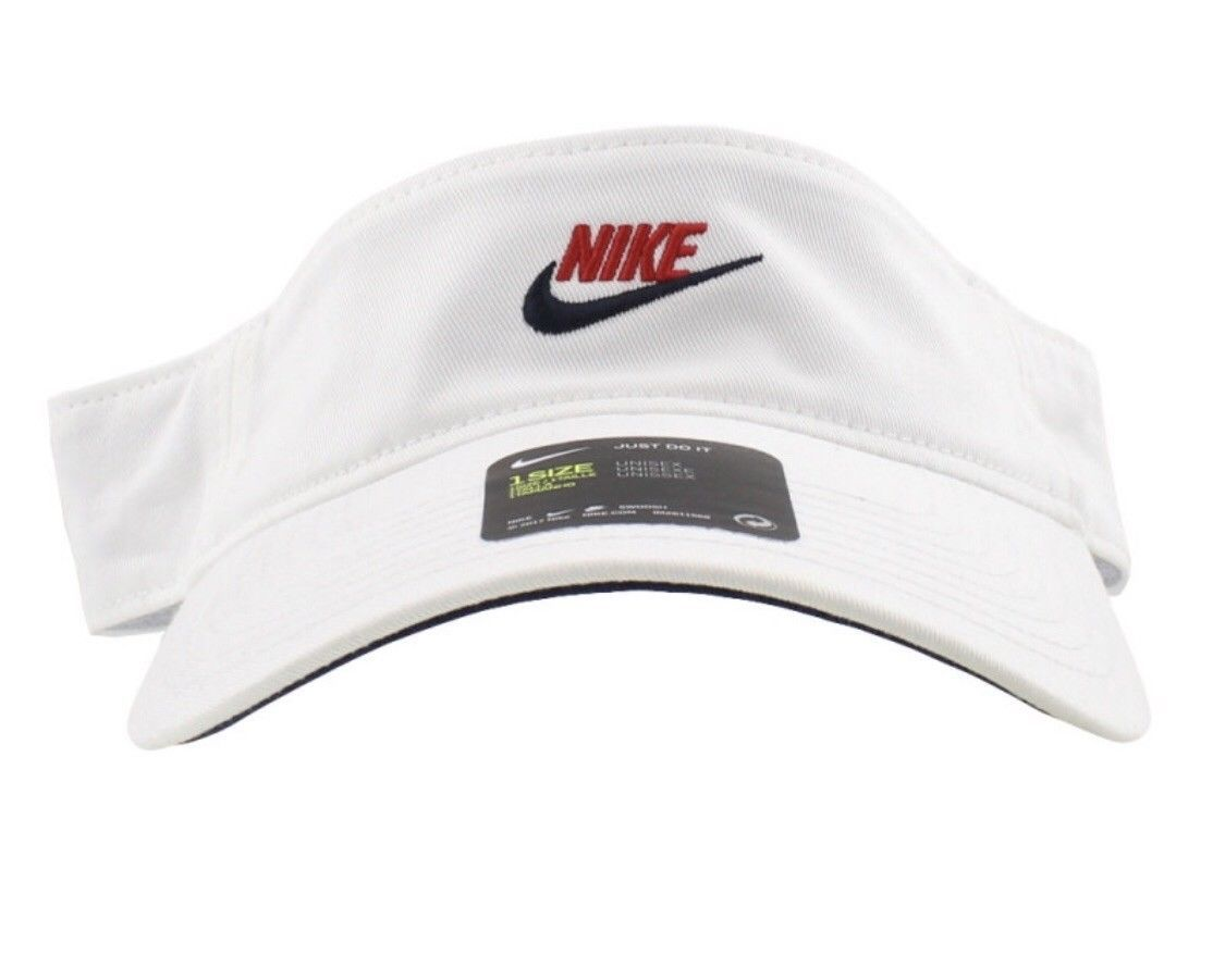 660932ea3 NIKE Adjustable White w Nike Swoosh VISOR and 29 similar items