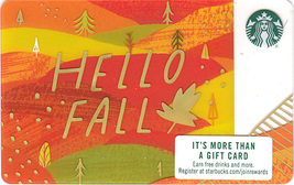 Starbucks 2018 Hello Fall Collectible Gift Card New No Value - $1.99