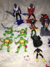 Mixed Super Hero Action Figure Lot Of 36 Marvel Ninjas Turtles Power Ranger WWE image 8