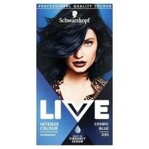 2 X Schwarzkopf Live Hair Dye Colour Cosmic Blue Black Permanent Metallic Shine - $21.78