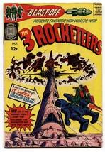 BLAST OFF #1 1965-THREE ROCKETEERS-KIRBY-SIMON-HARVEY COMICS - $55.87