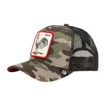 Goorin Bros Snapback Mesh Cap Animal Farm Green Roster Camo Army Trucker Hat