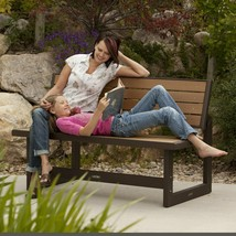 Outdoor Bench Convertible Brown Durable Multipurpose Picnic Backyard Fur... - £174.46 GBP
