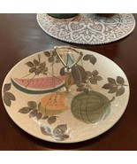 Red Wing Pottery Tampico Pattern SANDWICH SERVING TRAY PLATE WITH HANDLE - $39.55
