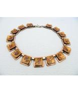 VTG MATISSE Renoir Copper Orange Speckled Enamel Choker Necklace - $173.25