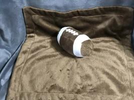KOALA BABY BROWN FOOTBALL SECURITY BLANKET LOVEY Snuggle Gift B35 - $16.21