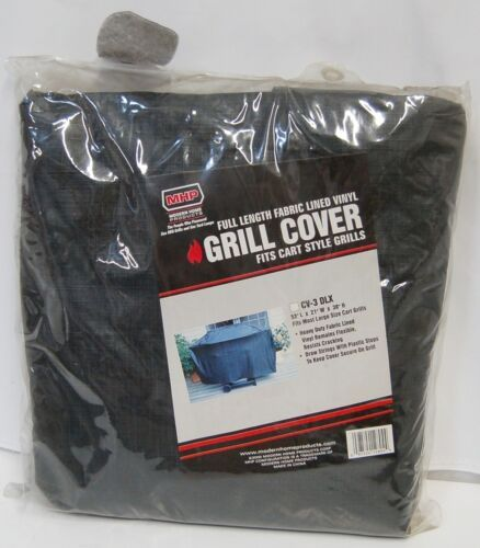 MHP CV3DLX Full Length Fabric Lined Vinyl Grill Cover Color Black Size Large