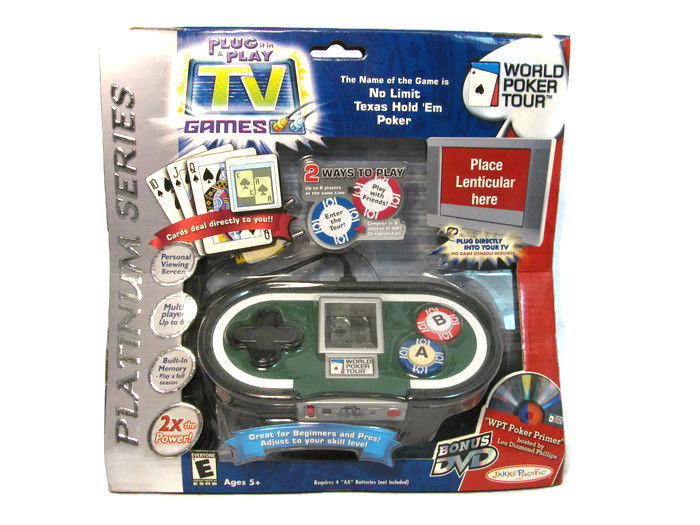 Jakks Pacific World Poker Tour Texas Hold 'em Plug it in & Play TV Game NEW