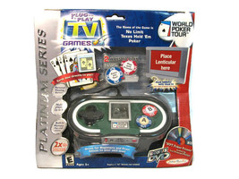 Jakks Pacific World Poker Tour Texas Hold 'em Plug it in & Play TV Game NEW - $17.66