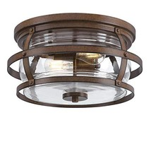 Westinghouse Lighting 6112600 Weatherby 14 Inch Rustic/Arts & Crafts Two-Light O - $136.47