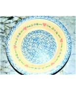 Beautiful~CLAY IN MOTION~Handthrown Stoneware~ Recipe Dish Sponge Heart~... - $14.95