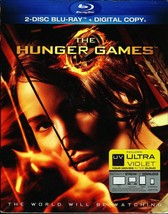 HUNGER GAMES  JENNIFER LAWRENCE 2 DISC BLU-RAY WITH DIGITAL COPY WITH SL... - $9.95