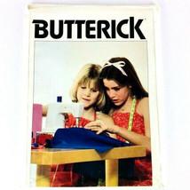 Vintage 1960s Butterick Sewing Pattern Girls Jumper Dress Sz SML 3 Piece... - $9.79