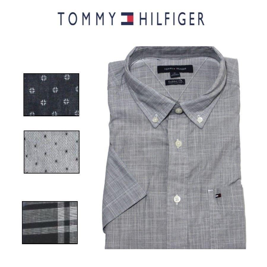 Tommy Hilfiger Men's Classic Fit Short Sleeve Woven Shirt - $18.99