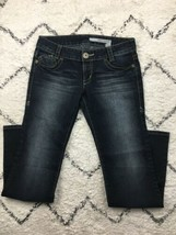 DKNY Women's 'Brooklyn' Jeans Dark Stonewashed Extreme Size 9R Style HUR... - $20.43