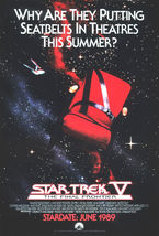 1989 STAR TREK V Advance Movie POSTER 27x40 Original Vintage 1-Sided Rolled - $39.99