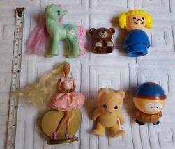 Lot of 6 Small Doll Mixed toys:  Mattel, Bear, 2008 Hasbro Pony, Lego Bear +more - $16.82